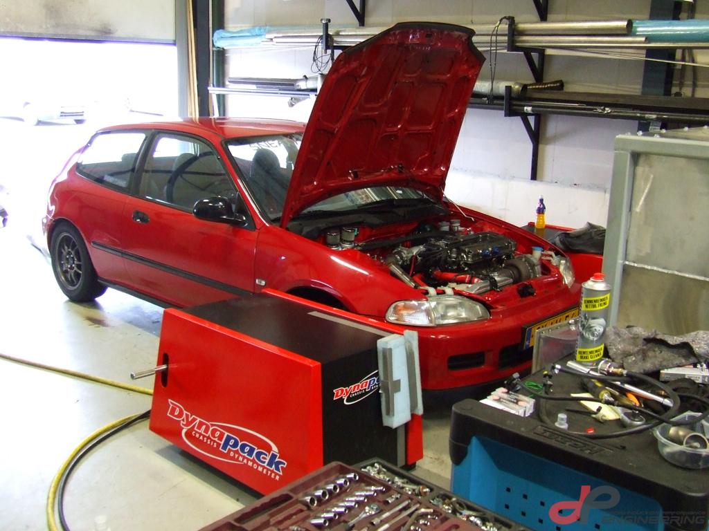 Honda Civic B18 GT4094R on E85 fuel