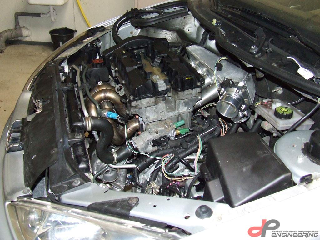Aluminum performance intake manifold for TU5J4 and TU5JP4 engines installed